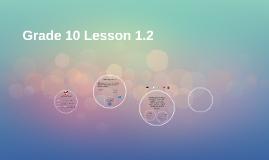 10th Grade Lesson 1.2