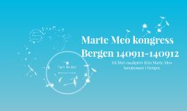 Marte Meo kongress Bergen 140911-140912