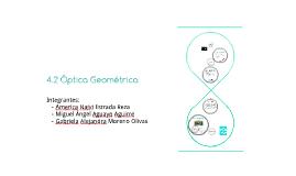4.2 Óptica Geométrica