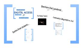Delivering Instruction Via Digital Access