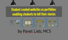 Student created websites