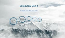 Copy of Vocabulary Unit 3