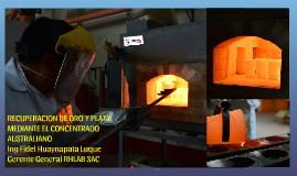 DETERMINACION DE ORO Y PLATA POR VIA SECA (FIRE ASSAY)