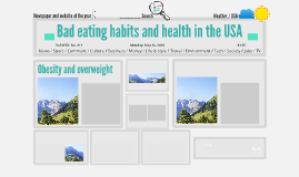 Bad eating habits and health in the USA