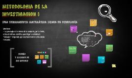 Copy of Metodologia de la investigacion cuantitativa