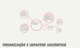 Urbanização e IMPACTOS AMBIENTAIS