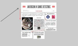 AMERICUM IN SMOKE DETECTORS