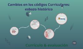 Cambios en los códigos Curriculares: esbozo histórico