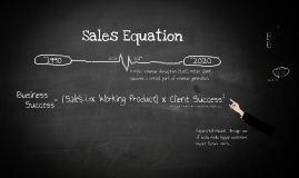 Copy of Sales Equations - SaaS and Customer Success