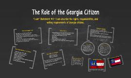 The Role of the Georgia Citizen