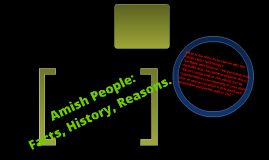 AMISH PEOPLE!