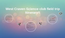 West Craven high Science club Itinerary