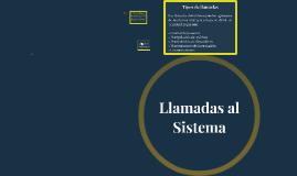 Llamadas al Sistema