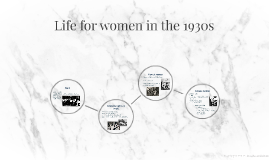 Life for women in the 1930s