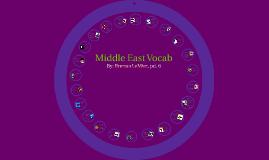 Middle East Vocab