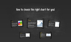 How to choose the right chart for you!