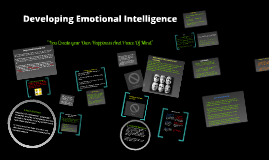 Copy of Developing Emotional Intelligence