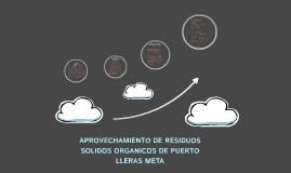 APROVECHAMIENTO DE RESIDUOS SOLIDOS ORGANICOS DE PUERTO LLER