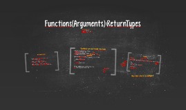 Functions, Arguments & Return Types