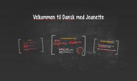 Velkommen til Dansk med Jeanette