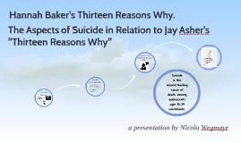 VWA Presentation: Hannah Baker's Thirteen Reasons Why.