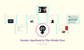 Gender Apartheid In The Middle East