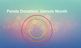 Panda Donation: Genuis Month