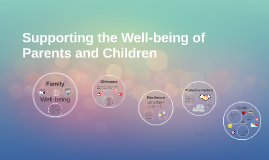 Supporting the Well-being of Parents and Children