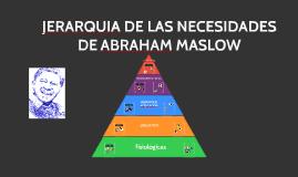 Copy of JERARQUIA DE LAS NECESIDADES DE ABRAHAM MASLOW