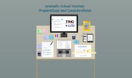 Graduate School Seminar