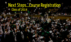 Rising Senior Course Registration Class of 2014