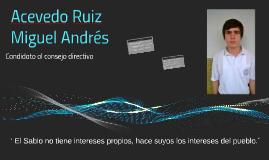 Acevedo Ruiz Miguel Andrés
