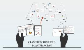 CLASIFICACION DE LA PLANIFICACION