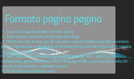 Formato pagina pagina