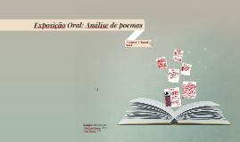 Exposição Oral: Análise de poemas