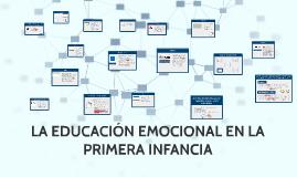 Copy of LA EDUCACIÓN EMOCIONAL EN LA PRIMERA INFANCIA