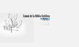 Canon de la Biblia Católica