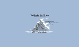 Writing for Med School