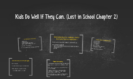 Kids Do Well If They Can. (Lost in School Chapter 2)