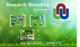 Branding as research topic