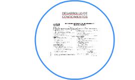 DESARROLLO DE CONOCIMIENTOS