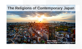The Religions of Contemporary Japan