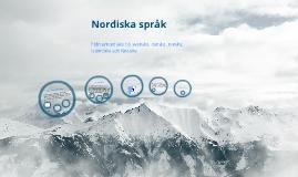 Copy of Nordiska språk introduktion