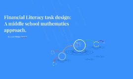 Financial Literacy task design: A middle school mathematics