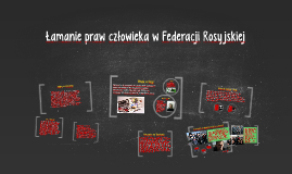 Łamanie praw człowieka w Federacji Rosyjskiej