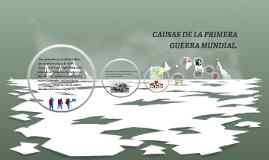 CAUSAS DE LA PRIMERA GUERRA MUNDIAL.