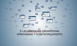 5. LAS ANARQUIAS ORGANIZADAS, AMBIGÜEDAD Y FLOJO ACOPLAMIENT