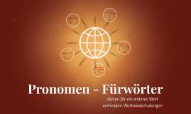 Pronomen - Fürwörter