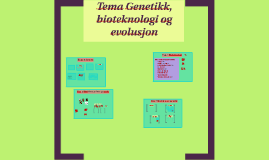 Tema genetikk, bioteknologi og evolusjon