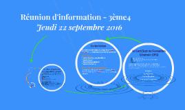Réunion d'information - 3ème4